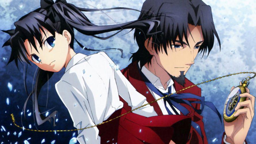 Tohsaka Rin anime Fate/Zero Tohsaka Tokiomi scans Fate series wallpaper