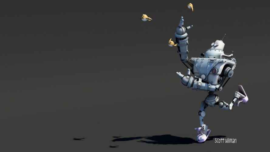 robots science fiction wallpaper