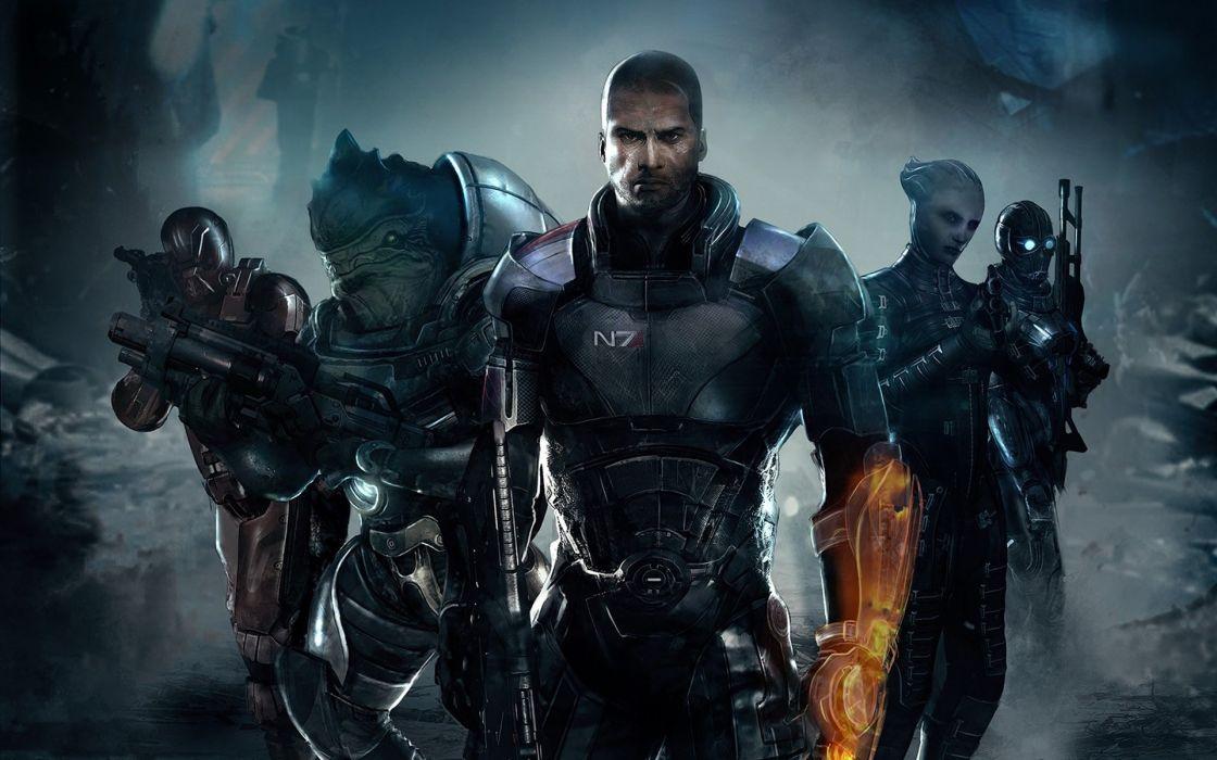 Mass Effect 3 Commander Shepard Games Wallpaper 1920x1200