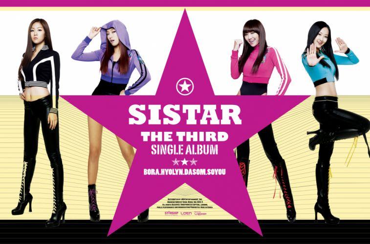 SISTAR K-pop Hip Hop Electronic Dance korea korean kpop pop poster h wallpaper