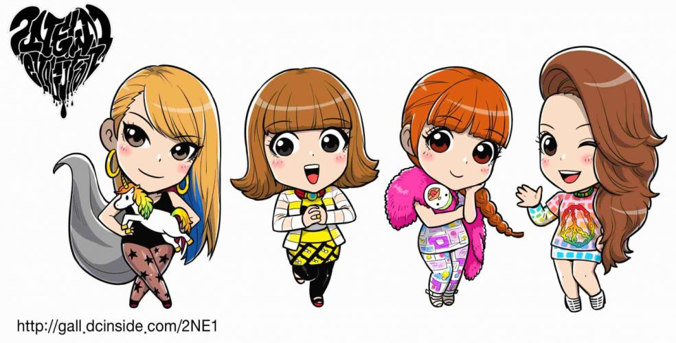2NE1 k-pop pop dance korean korea anime n wallpaper