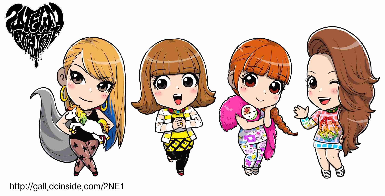 2NE1 K Pop Dance Korean Korea Anime N Wallpaper