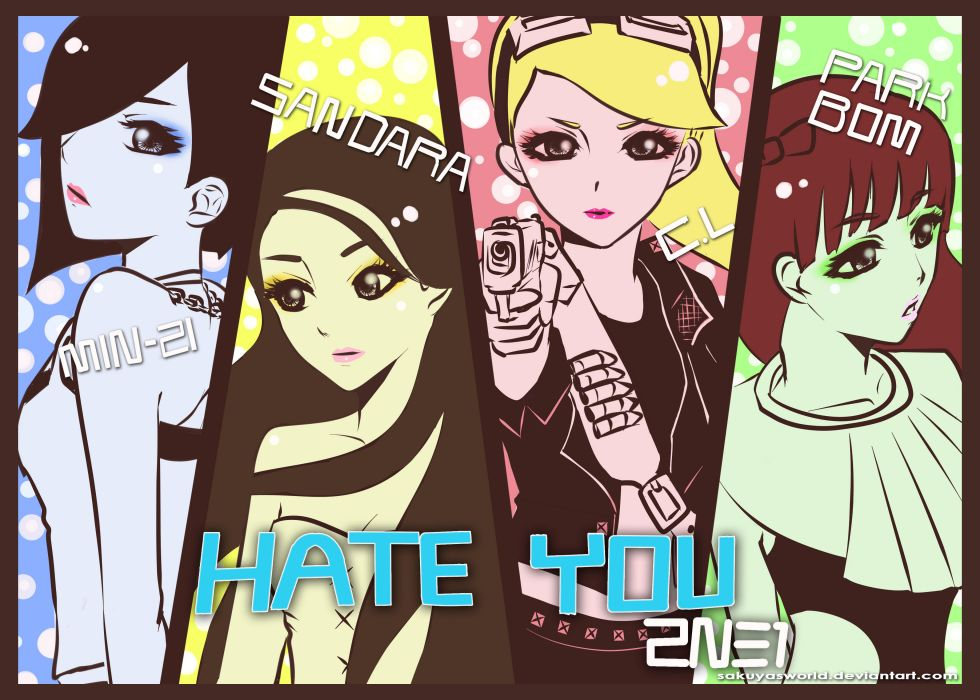 2ne1 K Pop Pop Dance Korean Korea Anime H Wallpaper