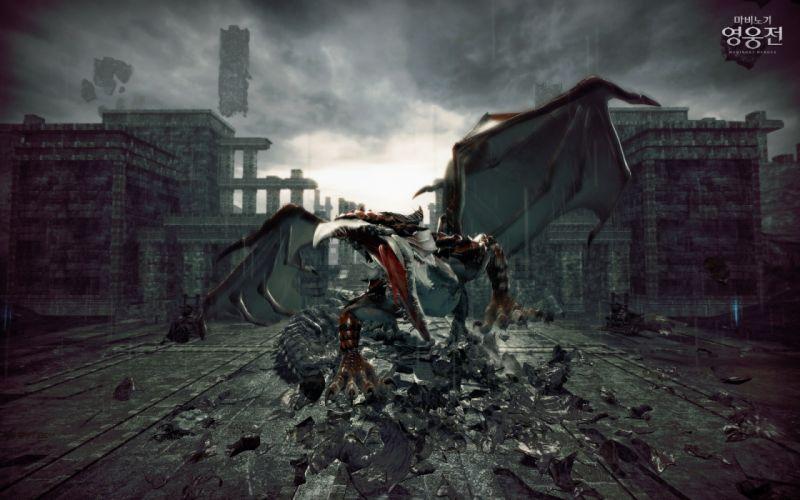 ruins dragons Vindictus Nexon Games Mabinogi Heroes Siglint wallpaper