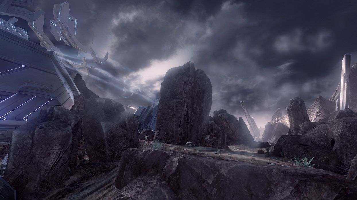 video games Halo maps science fiction vortex Halo 4 multiplayer wallpaper