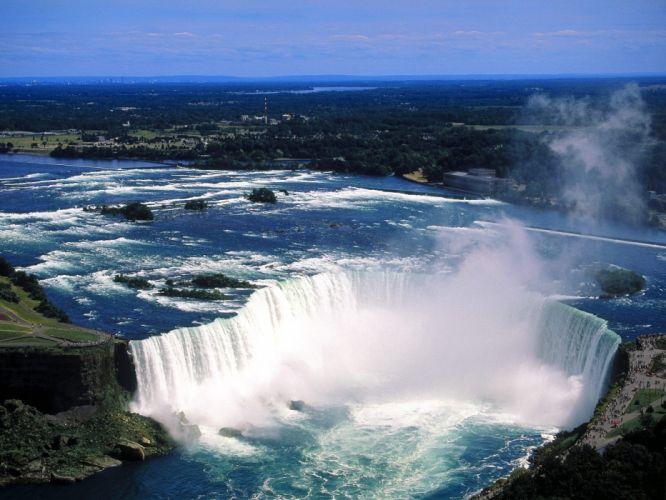 nature Canada Niagara Falls aerial waterfalls wallpaper