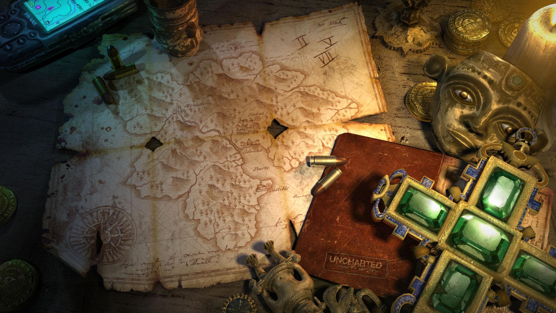 Maps Uncharted Nathan Drake treasure Playstation 3 ...