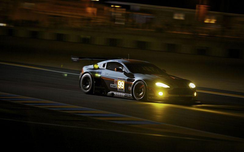 night race Aston Martin Vantage Aston Martin wallpaper