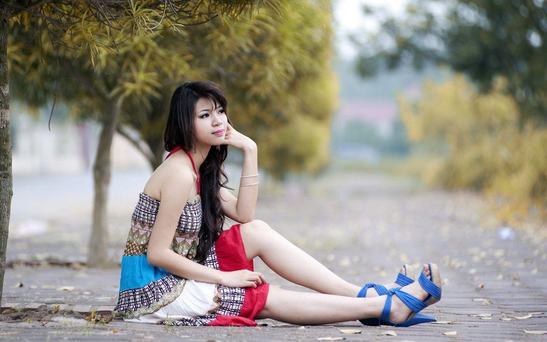 women models Asians wallpaper
