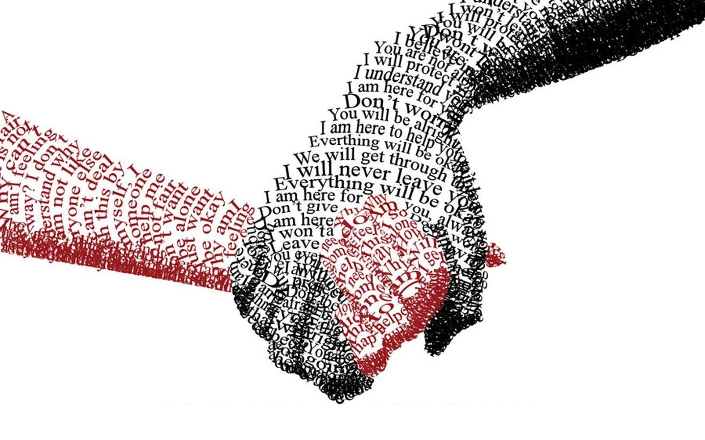 Love text hands typography couple holding hands friendship ...