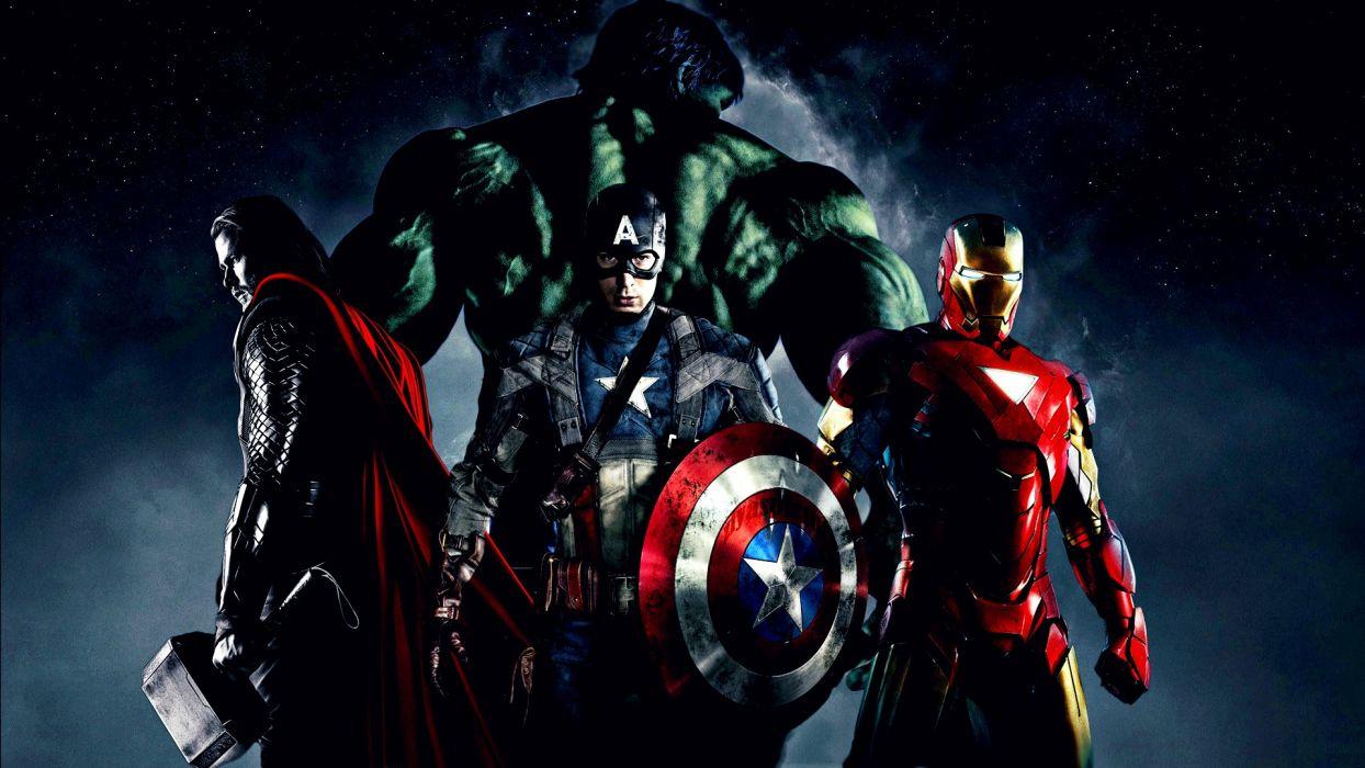Hulk (comic character) Iron Man Thor Captain America Chris Evans Chris Hemsworth The Avengers (movie) wallpaper