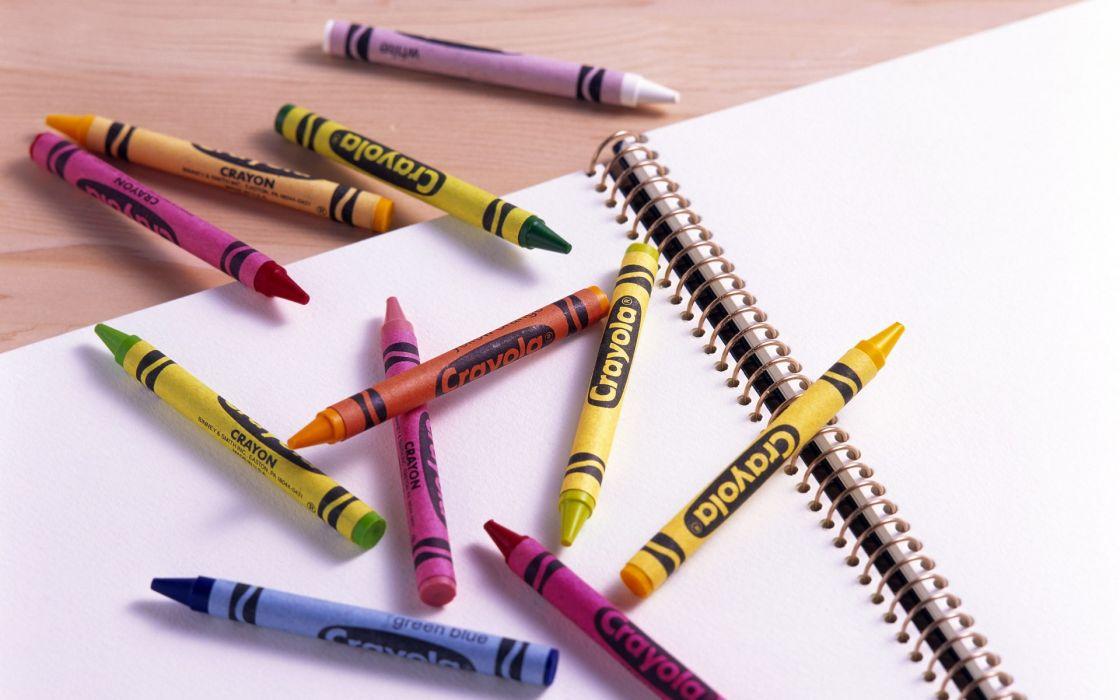 crayons still life wallpaper
