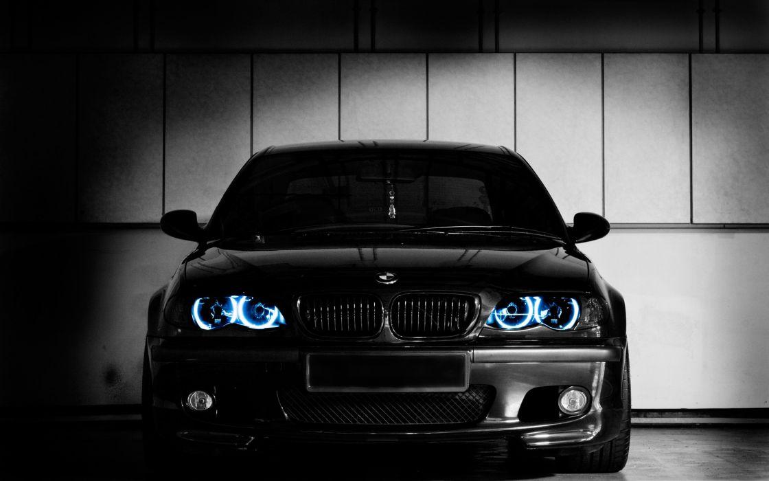 BMW cars vehicles BMW E46 black cars wallpaper