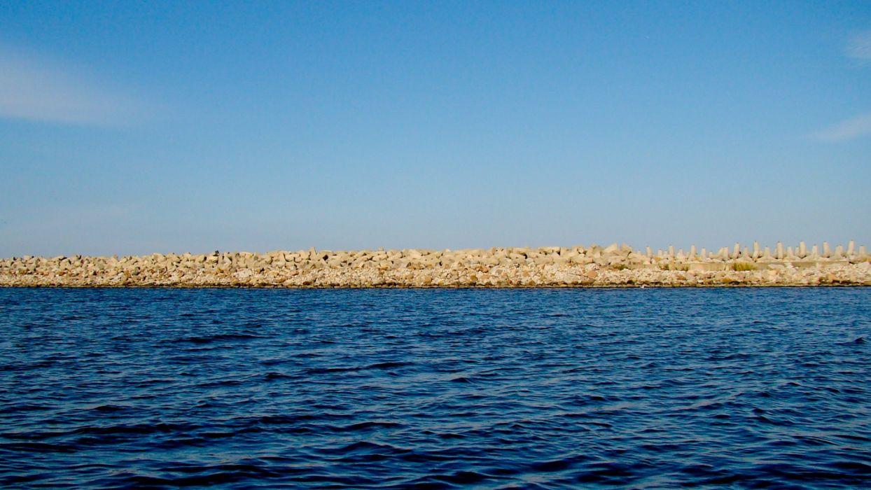 water blue nature blue skies skies sea wallpaper