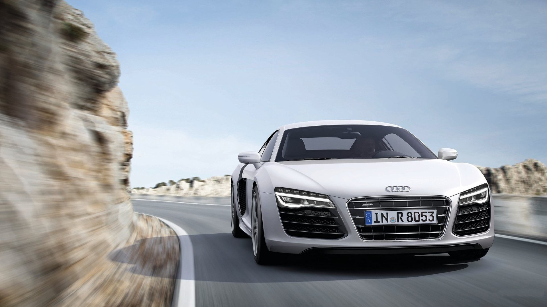 Cars Rocks Audi Front Roads Sports Cars White Cars Audi R8 V10 Wallpaper |  1920x1080 | 187109 | WallpaperUP