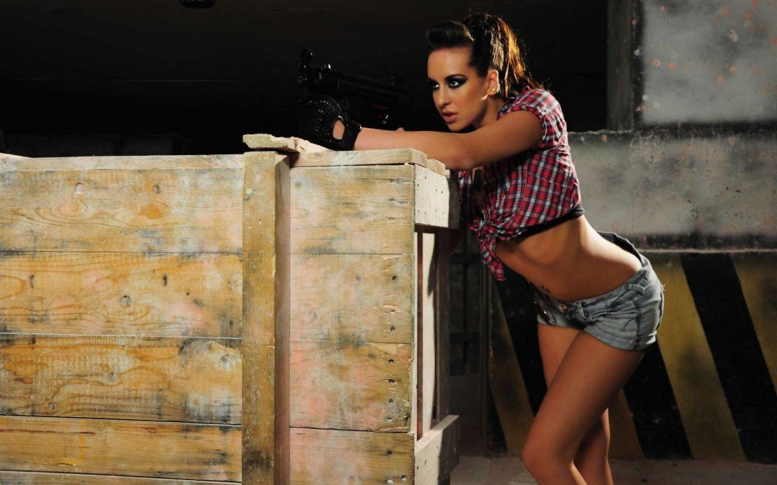 women armed wallpaper