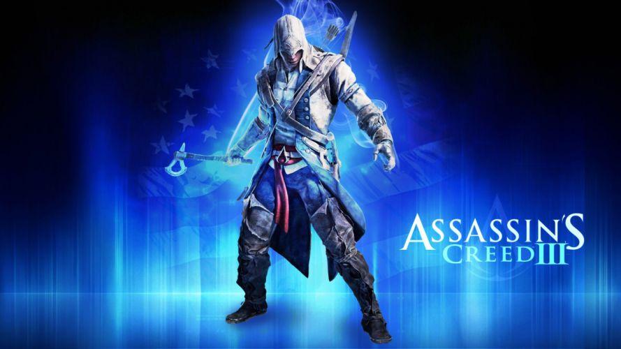 video games blue assassin Assassins Creed Assassins Creed 3 fan art wallpaper