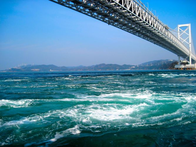 water nature bridges buildings cities wallpaper