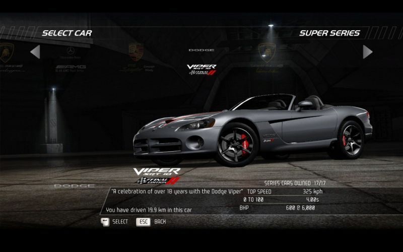 video games cars Dodge Viper Need for Speed Hot Pursuit SRT10 pc games wallpaper