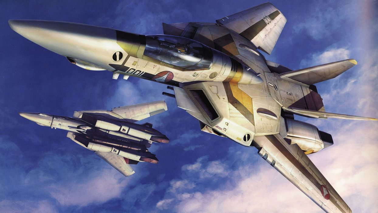 aircraft Macross robotech artwork VF-1 Valkyrie wallpaper