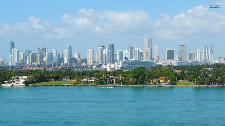 cityscapes Miami wallpaper