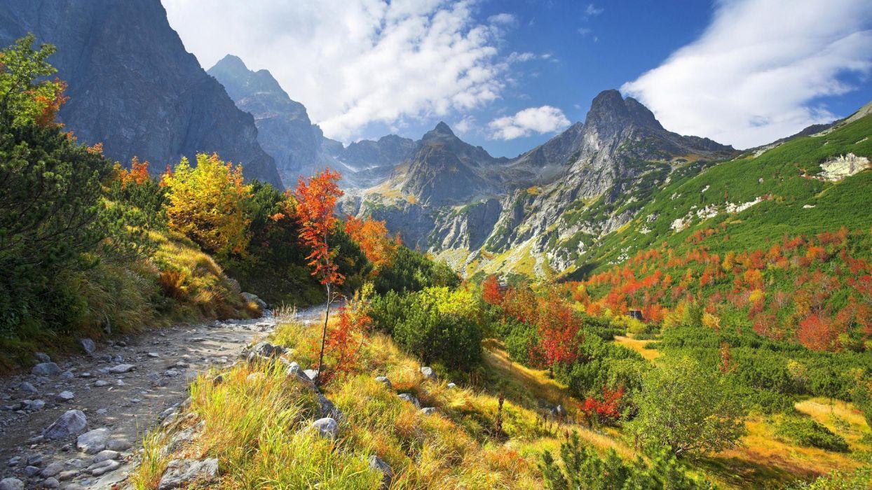 mountains valleys rivers Slovakia wallpaper