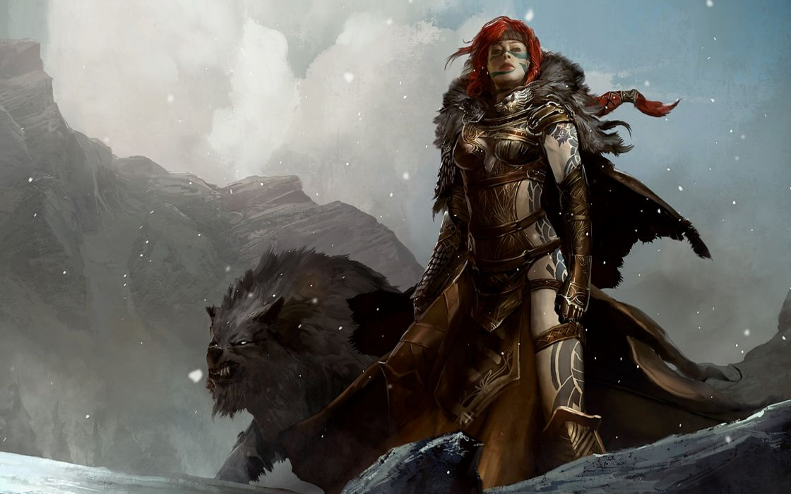 video games Guild Wars fantasy art Guild Wars 2 Norn wallpaper