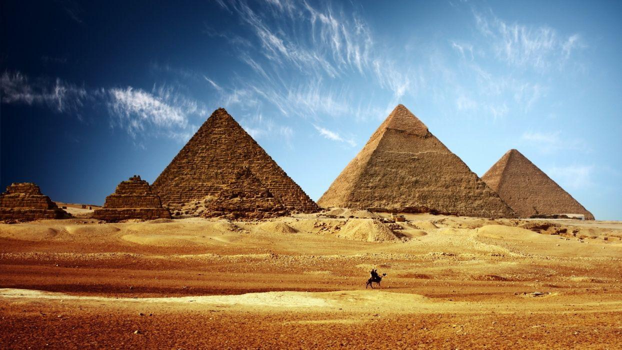landscapes nature architecture Egypt ancient Giza pyramids land Cairo wallpaper