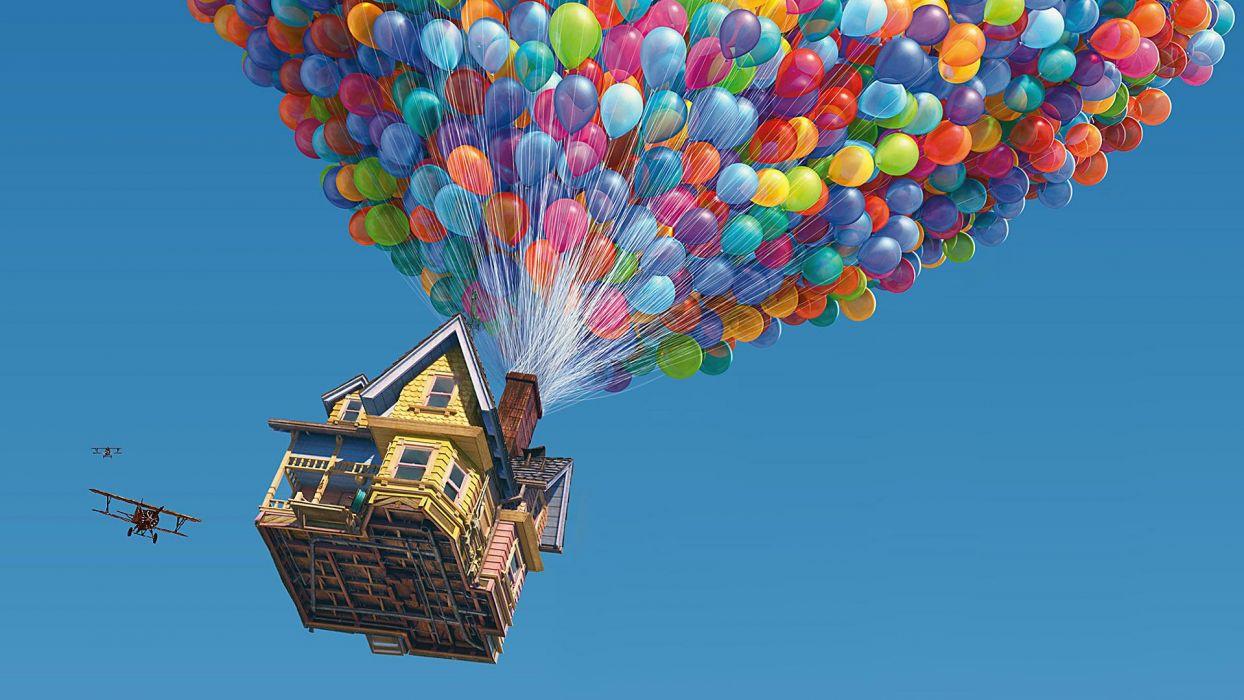 Up (movie) balloons wallpaper