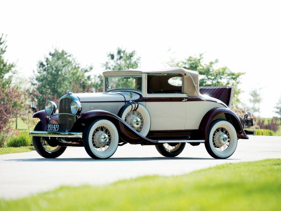 1932 Plymouth PA Convertible Coupe retro p-a         d wallpaper