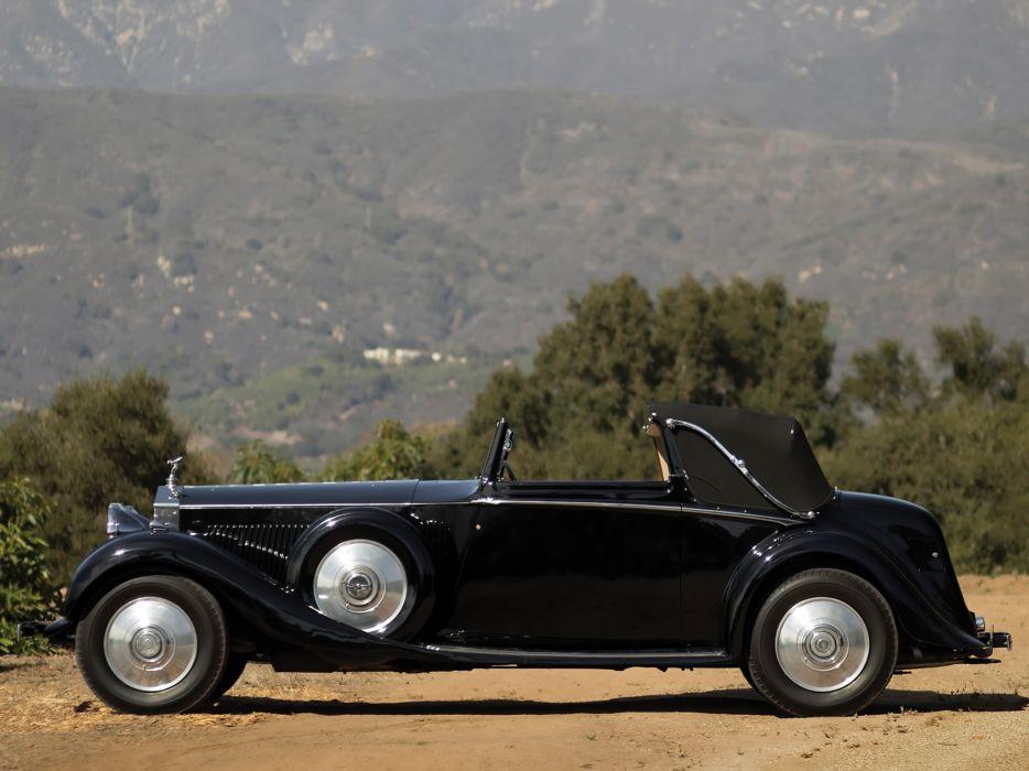 1934 Rolls Royce Phantom II Continental Drophead Sedanca Coupe Mulliner luxury retro  f wallpaper