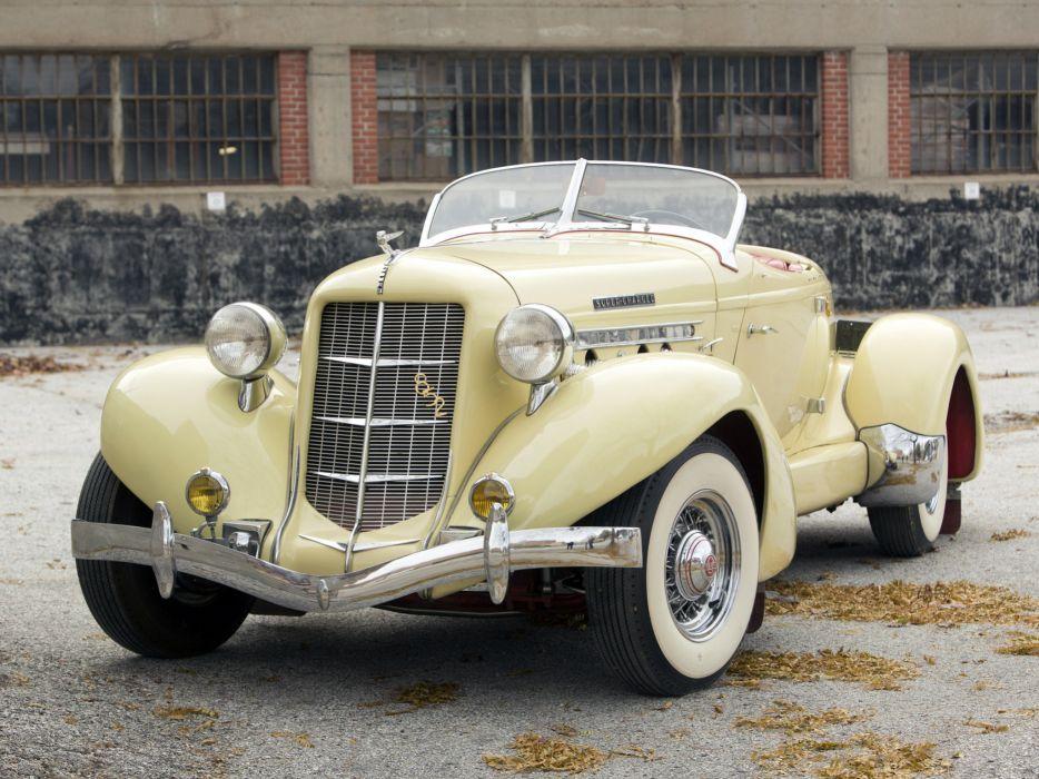1936 Auburn 852 S-C Speedster retro luxury   fs wallpaper