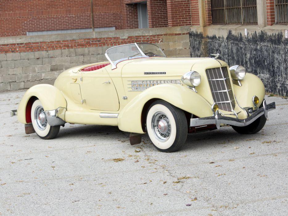 1936 Auburn 852 S-C Speedster retro luxury  d wallpaper