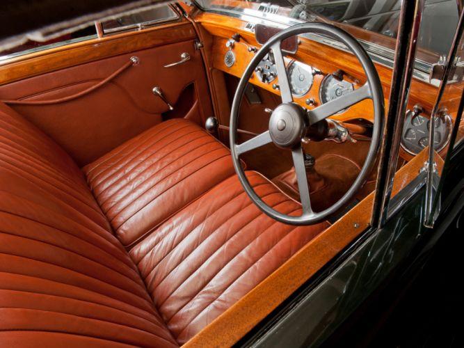 1937 Lagonda LG6 Drophead Coupe retro luxury interior g wallpaper