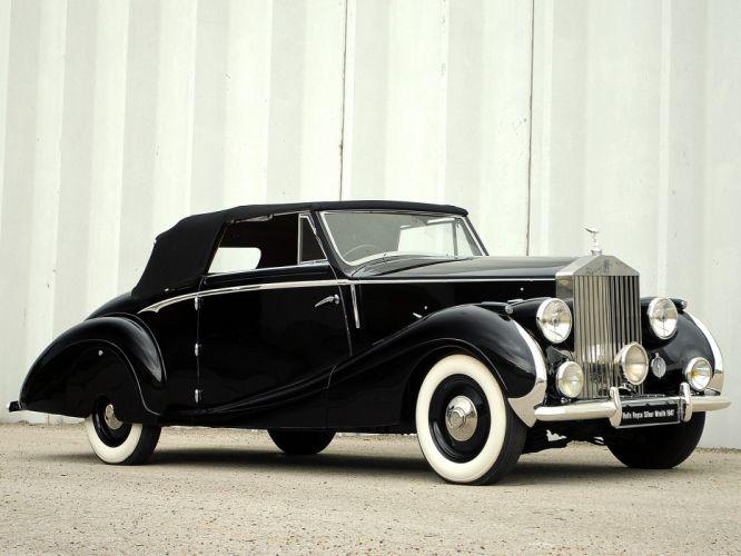 1947 Rolls Royce Silver Wraith Drophead Coupe Franay luxury retro f wallpaper