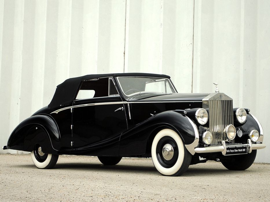 1947 Rolls Royce Silver Wraith Drophead Coupe Franay luxury retro  f wallpaper
