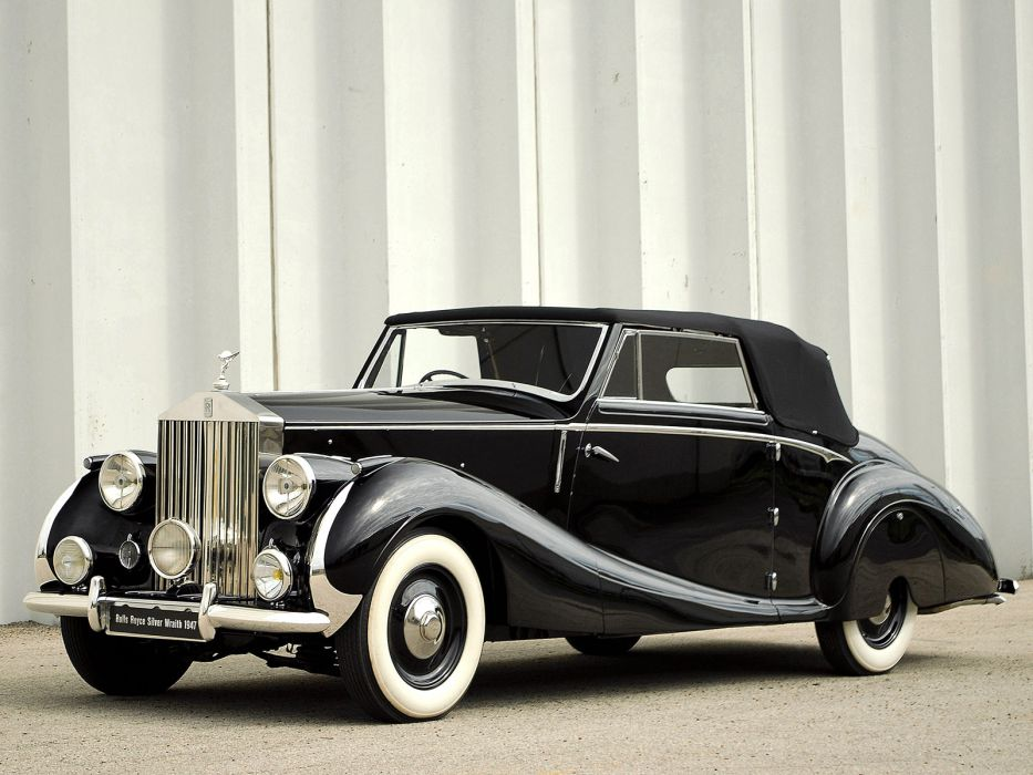 1947 Rolls Royce Silver Wraith Drophead Coupe Franay luxury retro  g wallpaper