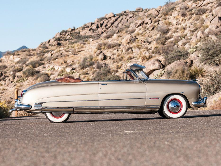 1950 Hudson Custom Commodore Eight Convertible Brougham retro luxury   g wallpaper