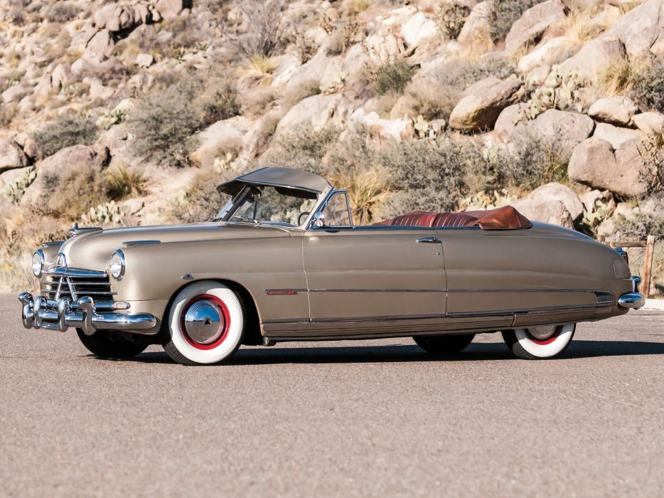 1950 Hudson Custom Commodore Eight Convertible Brougham retro luxury       g wallpaper