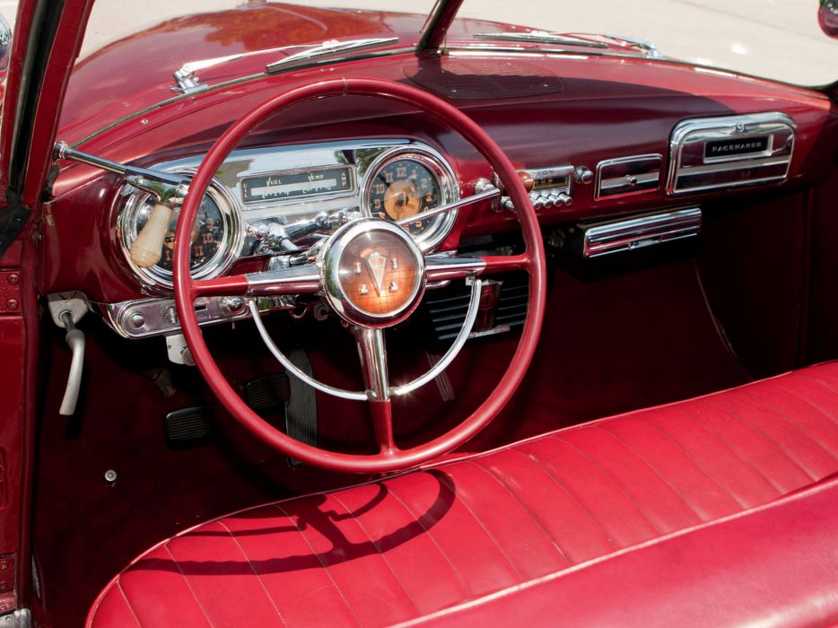 1951 Hudson Pacemaker Custom Convertible Brougham interior     g wallpaper