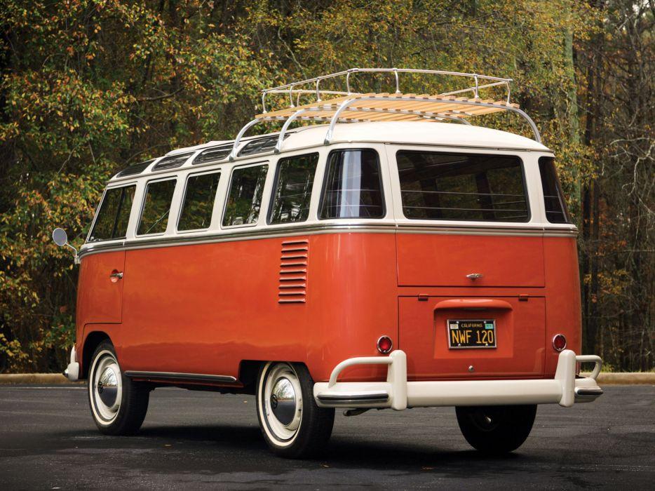 1951 Volkswagen T-1 Deluxe Samba Bus retro       f wallpaper