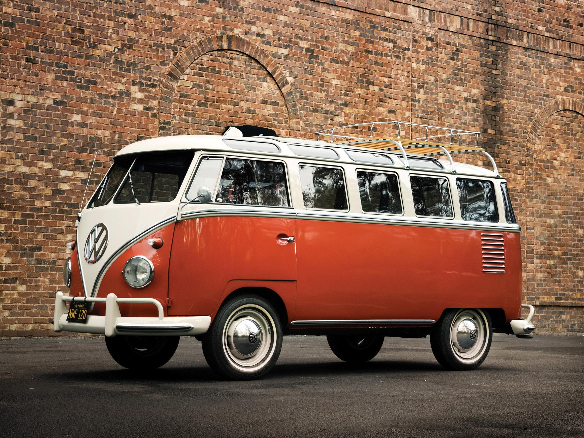 1951 Volkswagen T 1 Deluxe Samba Bus Retro F Wallpaper