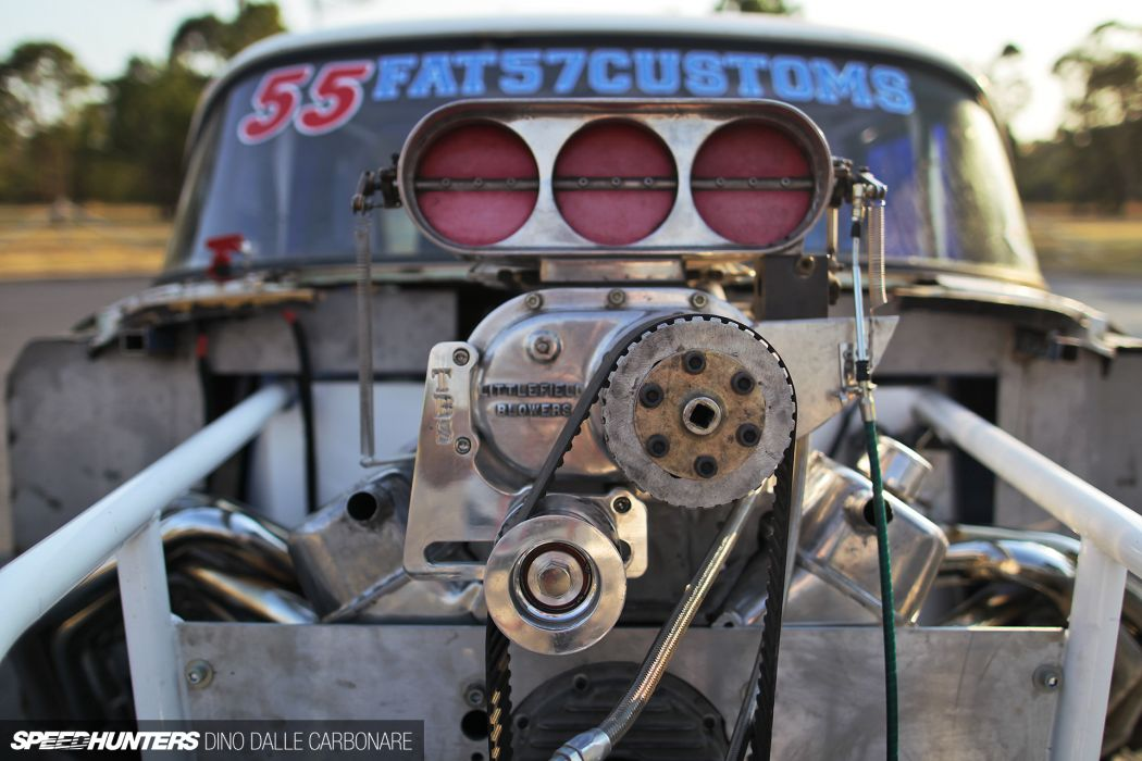 1955 Fat57-Customs Chevrolet Gasser drag racing race hot rod rods retro engine blower f wallpaper