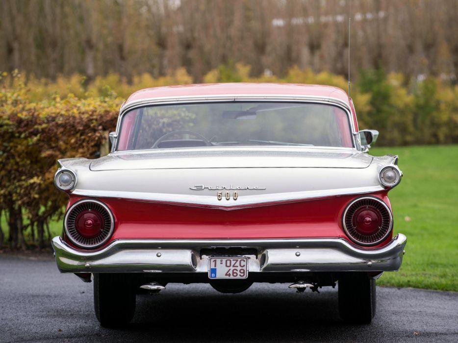 1959 Ford Fairlane 500 Skyliner Retractable Hardtop luxury retro   f wallpaper