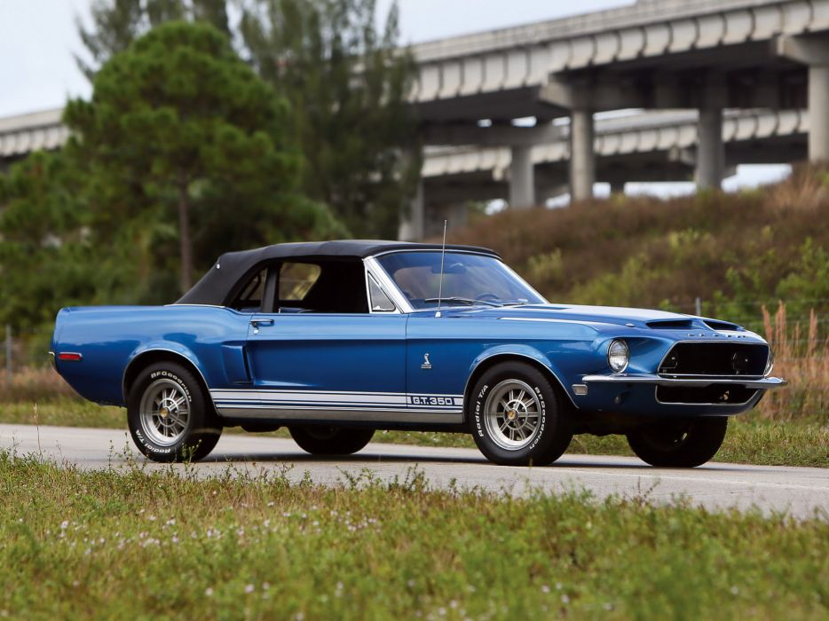 1968 Shelby GT350 Convertible ford mustang muscle classic   f wallpaper