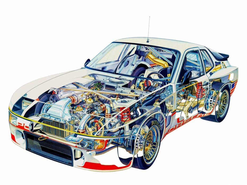 1980 Porsche 924 GTP race racing interior engine       f wallpaper