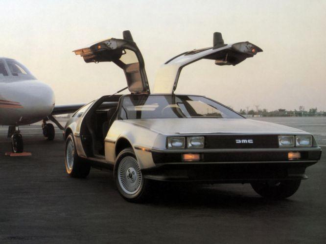 1981 DeLorean DMC-12 supercar f wallpaper