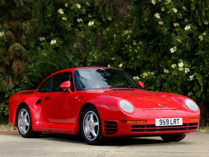 1987 Porsche 959 supercar d wallpaper