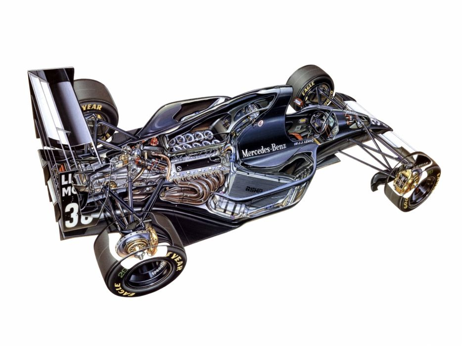 1993 Sauber Ilmor V10 C12 formula f-1 race racing interior engine       g wallpaper