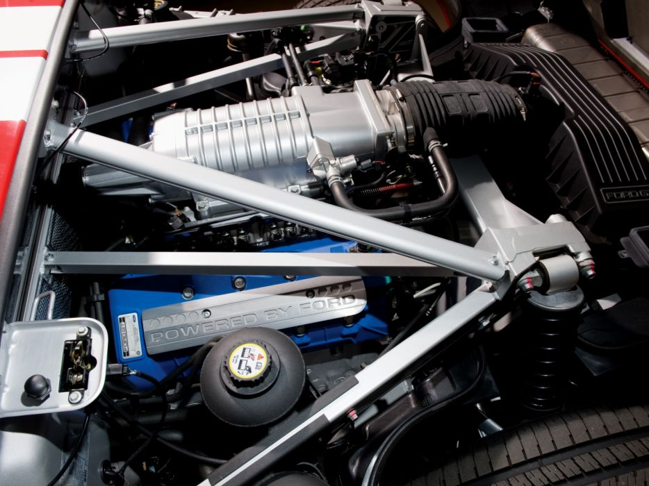 2005 Ford G-T supercar engine    h wallpaper